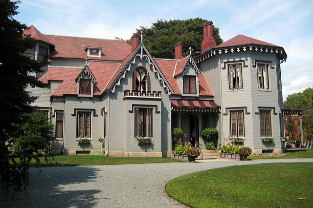 6. Kingscote: According to the Newport Preservation Society, this beautiful home is considered the landmark of the Gothic Revival style in American architecture.