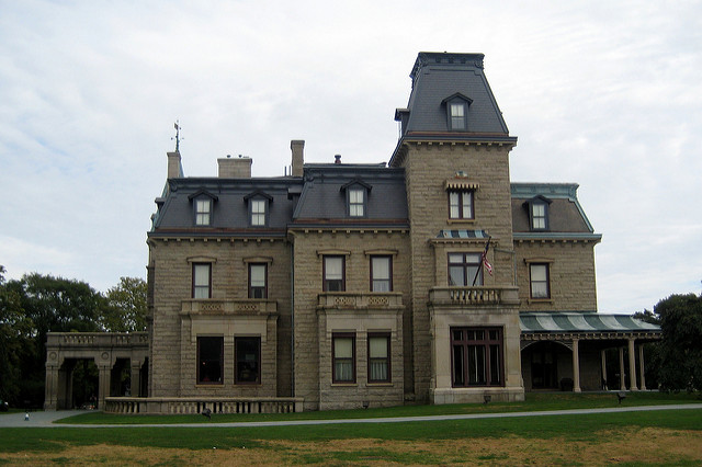 5. Chateau-Sur-Mer: This seaside castle was considered the most lavish Newport mansion until the completion of the Breakers several decades later.