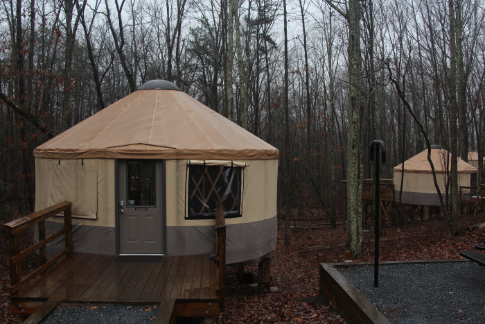 11. Rent a yurt for the night.