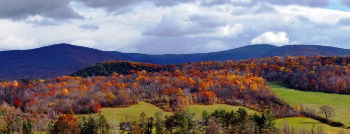3. Mount Greylock rising out of the fall foliage is a familiar and dear sight.