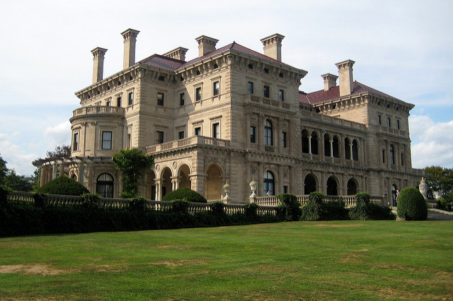 1. Let's begin with the Newport Mansions. We introduce you to the Breakers, a massive gilded age mansion and former Vanderbilt residence.