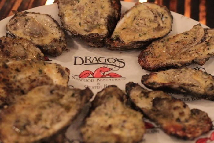1) Charboiled Oysters from Drago's