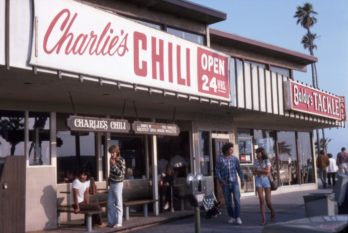 6. Charlie's Chili in Newport Beach in 1975. Any great memories at this place? I've heard it was a popular hangout back in the day.