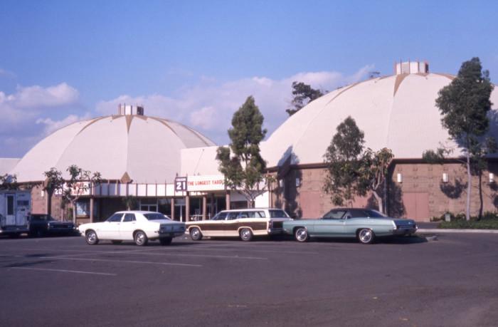 7. The Cinedome 20 Theatre in Orange, CA in 1974.