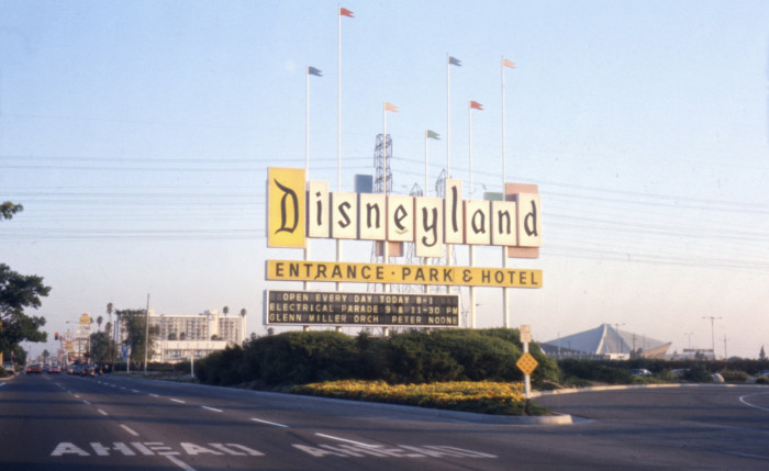 1. The Disneyland entrance as it looked in 1974.