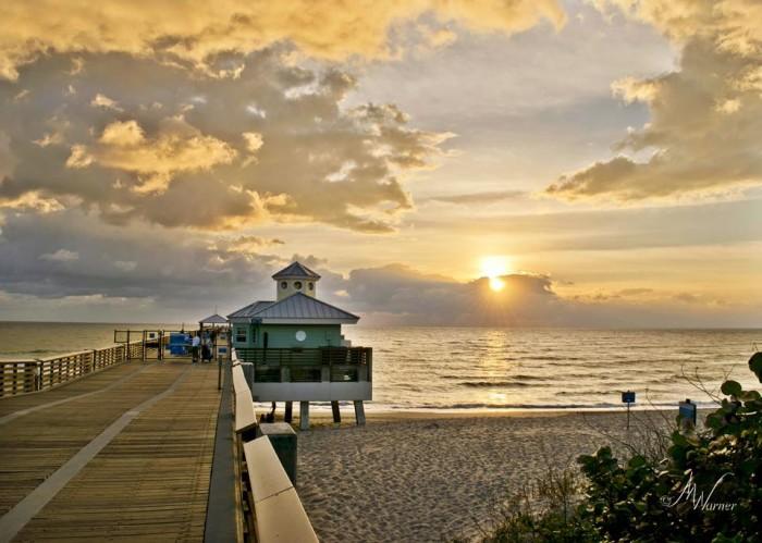 4. The pier at Juno Beach Park in Jupiter