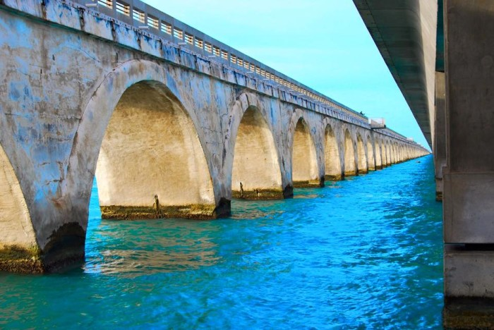 10. Part of the old Overseas Railroad in Long Key