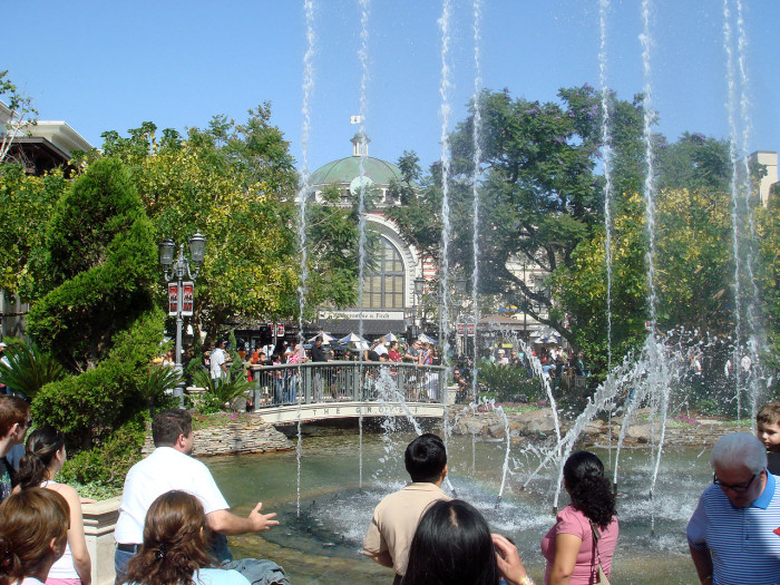 11. The fountains at The Grove in Los Angeles