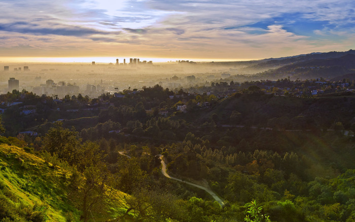 2. A coastal marine layer casts a magical spell over Los Angeles.