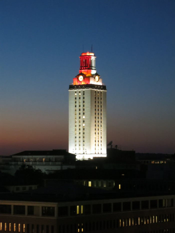 20. The UT Tower when it is lit...It means a UT sports team has brought home another victory!