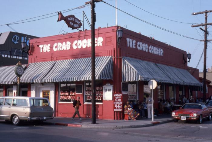 10. The Crab Cooker in Newport Beach in 1975.