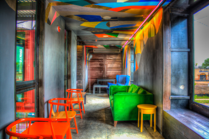 15. Austin is home to some of the coolest and laid-back hang out spots. This artsy bar located on Rainey Street is made out of recycled containers - And you guessed right, it's called Container Bar.
