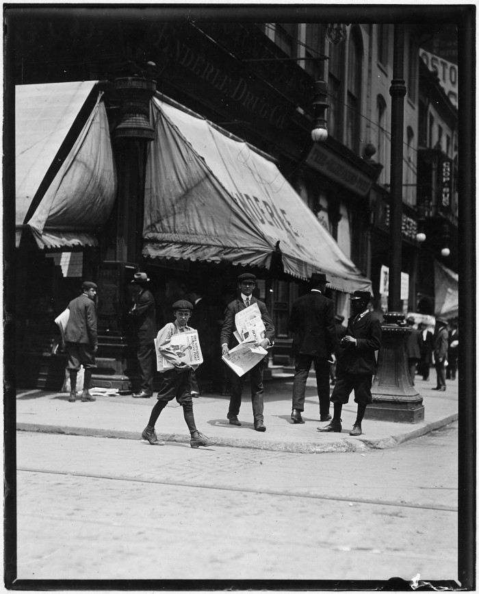 14.Truants selling the Saturday Evening Post at 10:30 A.M. in St. Louis, May 1910.