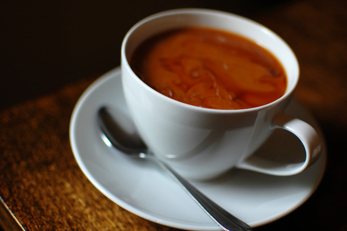 2. Follow that with a steaming cup of delicious local coffee.