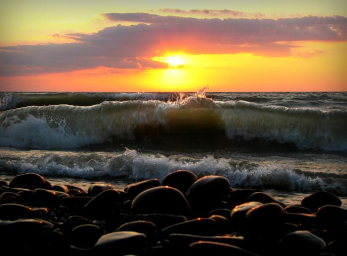 14. Watch the sun set on Lake Eire.