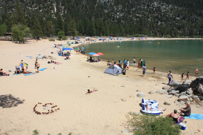 9. Spend a day on Lake Tahoe's Sand Harbor.