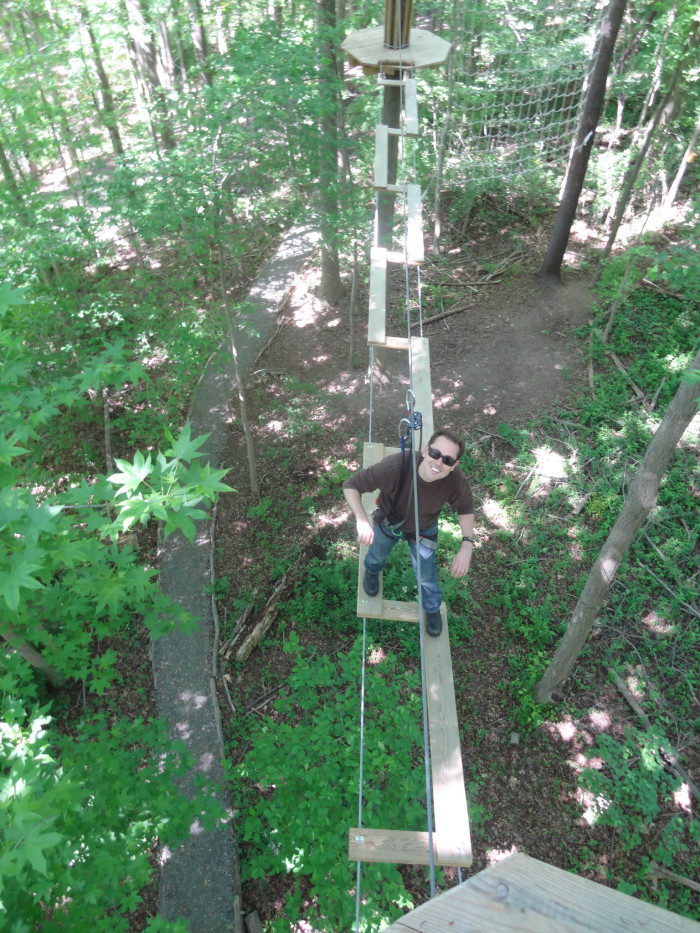 7. Go ape and swing through the trees at Lums Pond State Park.
