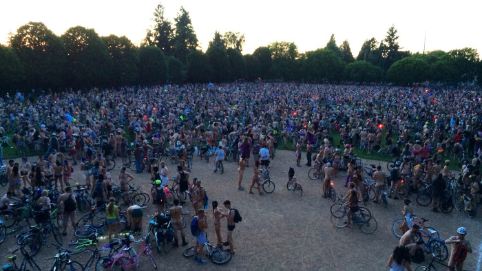 9. Each year, Portland hosts one of the biggest World Naked Bike Rides in the world.