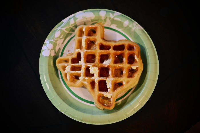 18. There are waffles shaped like our state.