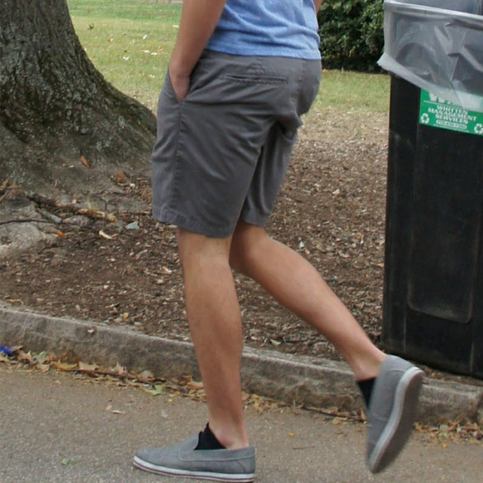 11. Even when the weather is still crisp, shorts come out at the slightest hint of sunshine.