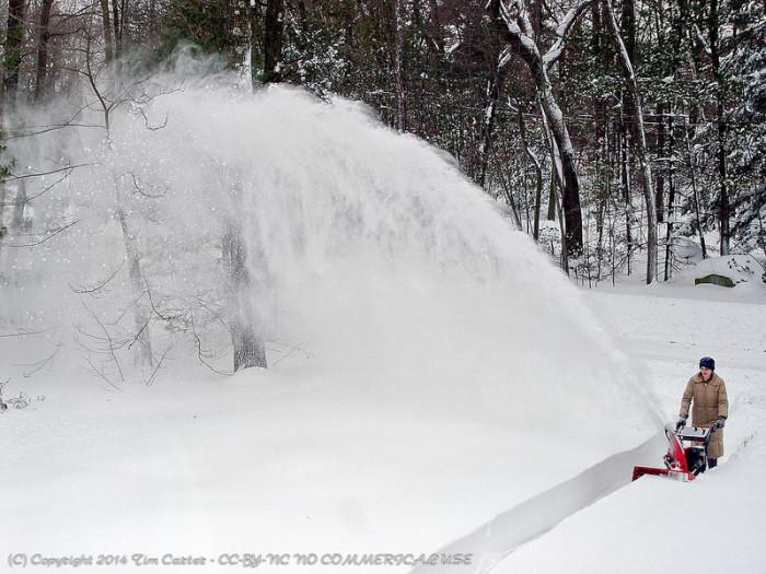 6.  Start a snowblower.