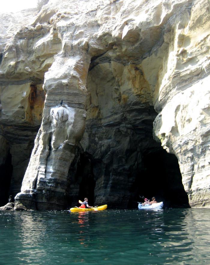 1. Sea Cave Kayaking in La Jolla