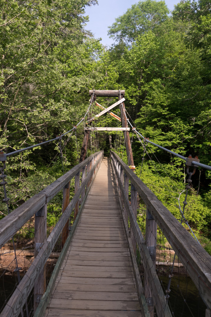 Hiking trails georgia swinging bridge are