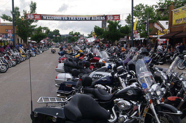 3. Sturgis Motorcycle Rally happens here every year.