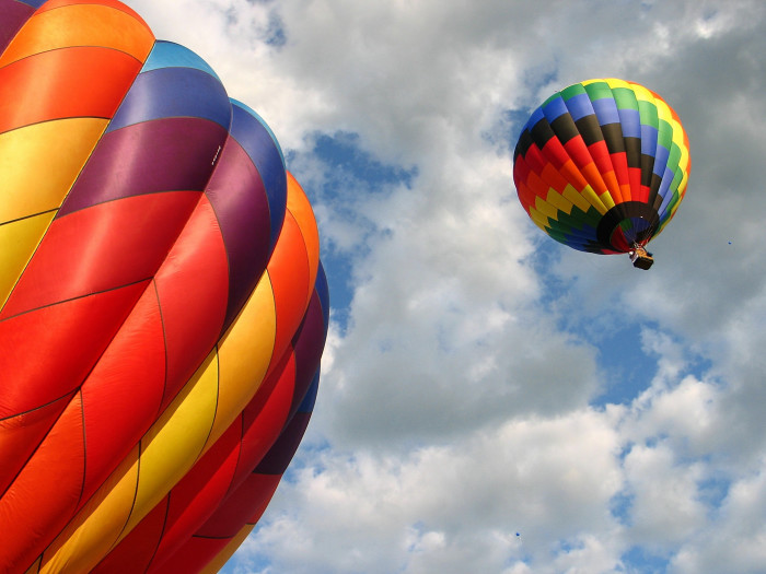 6. Hot air balloons may take off in your back yard.