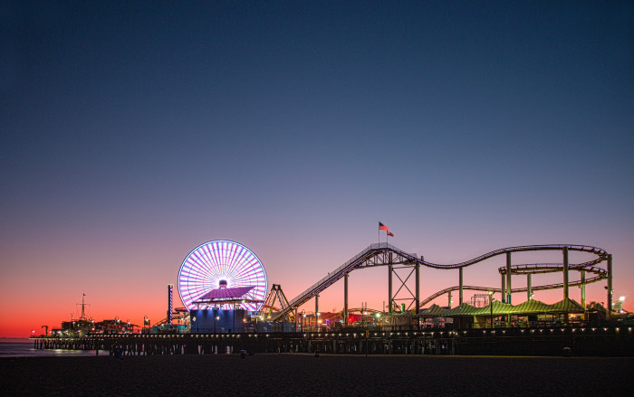 2. The West Coaster roller coaster at Santa Monica Pier.