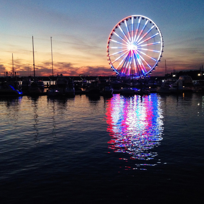 It's a spectacular sight on the Potomac that is stunning both day or night.