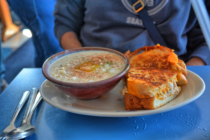 15. At a restaurant, they ask if there are tomatoes in the clam chowder. No. The answer is always no. It's illegal.