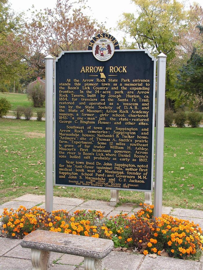 15.  Historic marker, Arrow Rock