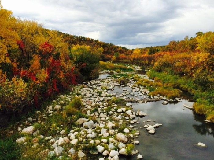 1. A beautiful shot of the Pembina Gorge in the fall