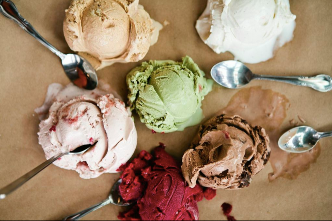 Don't forget dessert! Grab a scoop from Salt & Straw, also located in Portland.