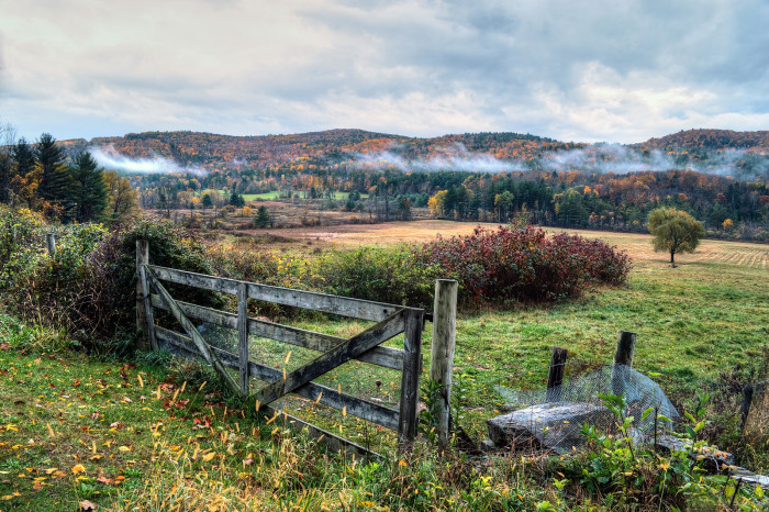 7. A rainy autumn morning in the Berkshires can be just as beautiful and stirring as a bright and sunny afternoon.