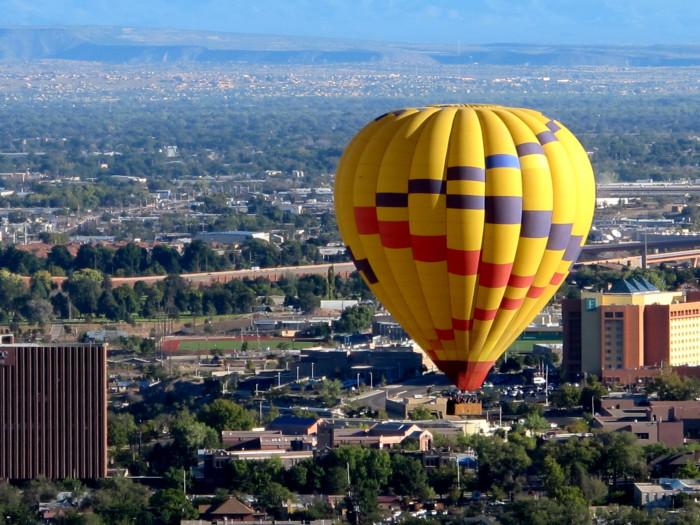 7. Hot air ballooning.