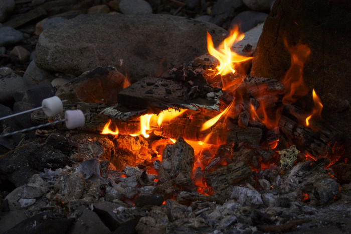 12. A fancy hotel is nice, but all they really need for a date is a campfire, some marshmallows and a cold drink.