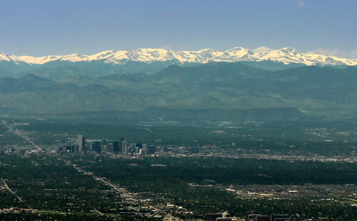 9.) The city itself is in the mountains.