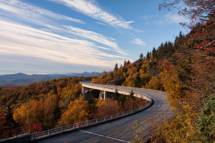 3. Our roads can drive you right through the most gorgeous parts of the Blue Ridge Mountains.