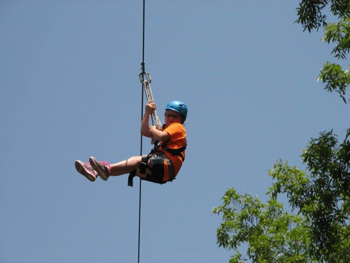 15.	Go Zip-lining at Cave Spring Park.