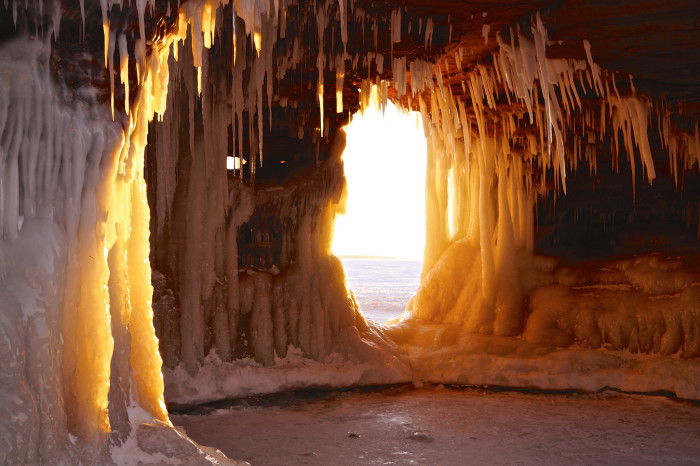 7. Apostle Islands National Lakeshore Ice Caves, Wisconsin.
