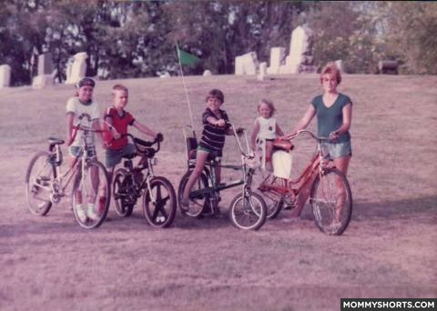 2. We rode bikes all over the place, without helmets, until our moms yelled at us to come home for dinner.