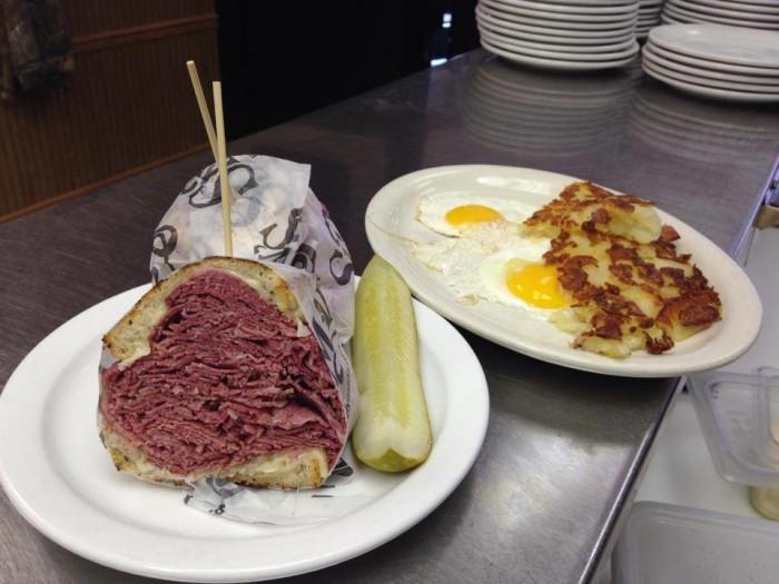 1. Slyman's corned beef sandwich