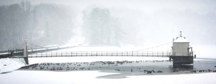 7. The Newark Reservoir is always beautiful, but this shot in the snow is a stunner.