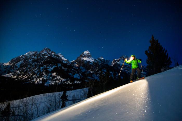 6. Teton Moonlit Skiing