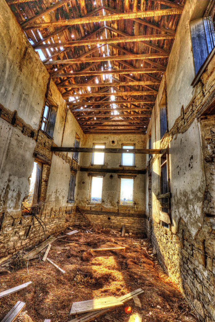 """11. """"Old times past.  (Oh the swanky places I visit these days! This is just north of Pillsbury Crossing. It is a well preserved total ruin!)"""""""