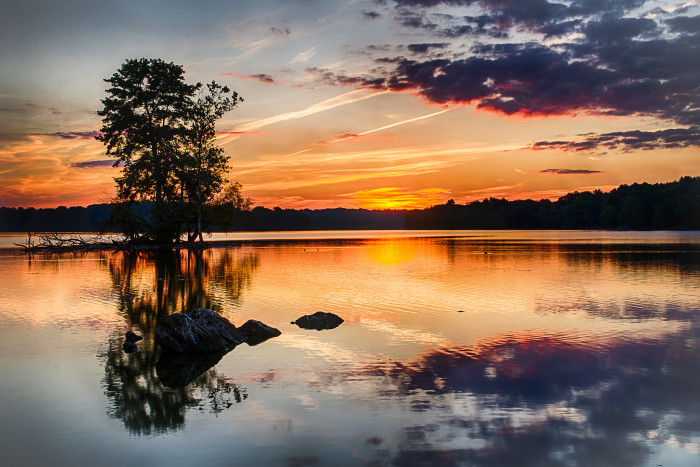 4. Beautiful reflections at Loch Raven Reservoir.
