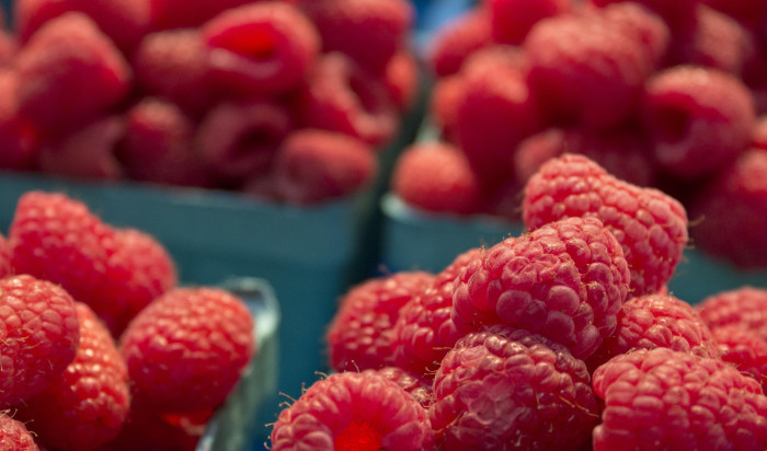 1. Red raspberries