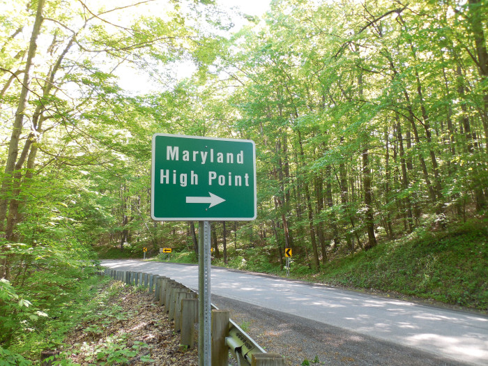 Oddly enough, to get to Maryland's highest point, you have to start in West Virginia.
